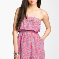 Mimi Chica Strapless Dress (Juniors) | Nordstrom