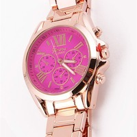 Pink Boyfriend Watch