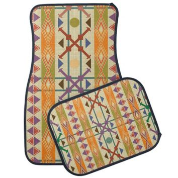 Navajo Tribal geometric style custom car mats