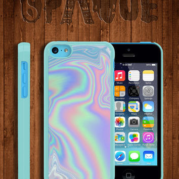 Pastel Metallic Oil Print Apple iPhone 5c Durable Hard Case – In Multiple Colours – Hipster Indie…