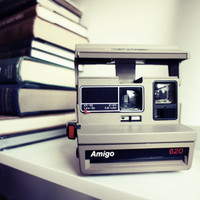 Polaroid Camera 620 Amigo - Film Tested Working