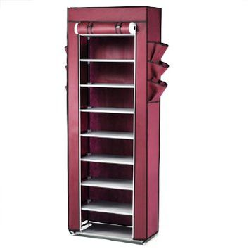 World Pride Shoe Cabinet 10-Tier Stand Rack Organizer with