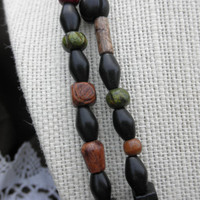 Wood Bead Double Necklace