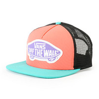 Vans Beach Girl Mint & Coral Colorblock Trucker Hat