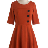Either Orange Dress | Mod Retro Vintage Dresses | ModCloth.com