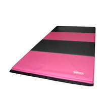 8ft Pink and Black Folding Mat for Gymnastics by Nimble Sports