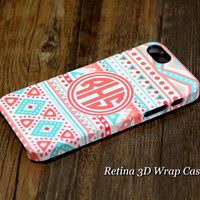 Ethnic Geometric Monogram iPhone 6 Plus/6/5S/5C/5/4S/4 3D Wrap Case - iPhone