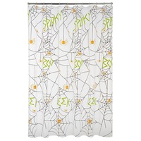 Halloween Spider Glow-in-the-Dark PEVA Shower Curtain