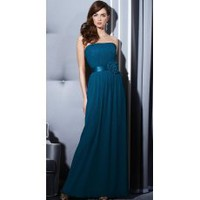 [US$200.00] Strapless Sash Floor Length Pleated Chiffon Evening Dress/Bridesmaid Dress