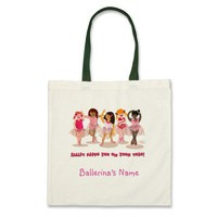 Customizable On Your Toes Ballerina Bag from Zazzle.com