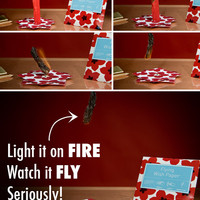 Flying Wish Paper: Write a wish, light it on fire, and watch it fly.