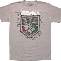 Attack on Titan Wall Rose Crest Shield T-Shirt