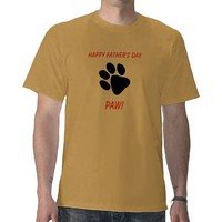 Funny Dog Owner's Father's Day T Shirt from Zazzle.com
