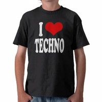 I Love Techno Tees from Zazzle.com