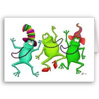 Three Dancing Frogs Card from Zazzle.com