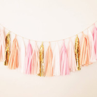 Peach Tassel Garland from Blush Bazaar