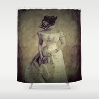 Classy Meets Selfie  (Vintage) Photogenic Series  Shower Curtain by    Amy Anderson