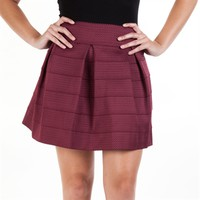 Eyeshadow Juniors Scalloped Jacquard Skirt at Von Maur