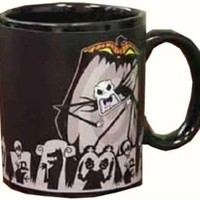 "NECA Nightmare Before Christmas ""Jack Scary Face"" Thermal Mug 1"