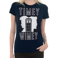Doctor Who Timey Wimey Silhouette Girls T-Shirt