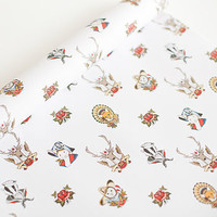 Animal Tattoo Wrapping Paper Two Sheets