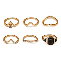 Geo Stud Ring Set