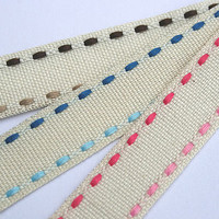 Duo Stitched Linen Ribbon Roll