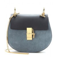 chloé - drew leather and suede shoulder bag