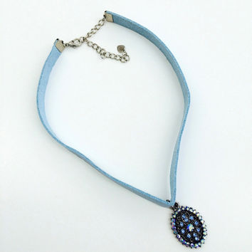 Tina Blu Choker Necklace