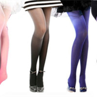 Fashion 30D Ombre Watercolor Velvet Gradient Tights Leggings Pantyhose Stockings