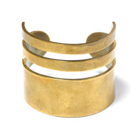 Triple Band Brass Cuff | TOMS