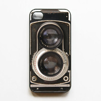iPhone 4 Case Retro Twin Reflex Camera  - Black. Cases for iphone 4