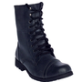 New Dirty Black Lace Up Workman Boots