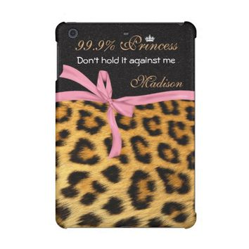 Monogram, Leopard Animal Print, iPad Cases