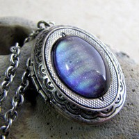 Handmade Gifts | Independent Design | Vintage Goods Violet Sky Locket Necklace