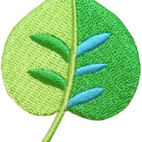 ID #7183 Green Tree Plant Leaf Outdoor Nature Embroidered Iron On Badge Applique Patch