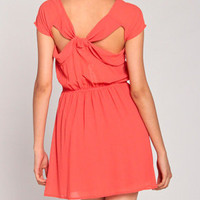 Butterfly Back Chiffon Dress in Rose