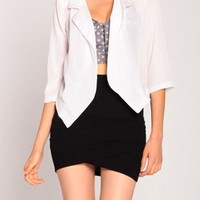 Open Spring Cardigan in Ivory