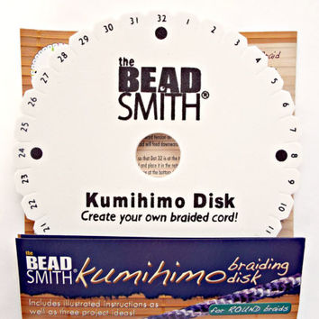 Kumihimo Braiding Disk by BeadSmith, UK Supplier, Kumihimo Braiding Supplies, Jewelry Making Tool, Weaving Disk, Japanese Braiding Tool