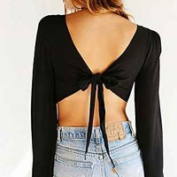 Pins And Needles Tie-Back Bell-Sleeve Blouse - Urban Outfitters