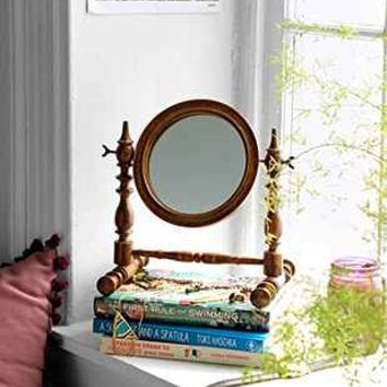 Magical Thinking Spindle Wood Tabletop Mirror  Urban Outfitters