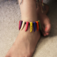 Colorful Stones Anklet