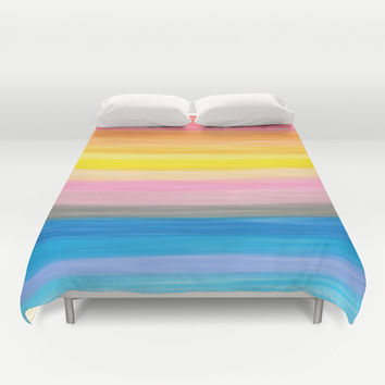 Crayon Love: Good Feeling Duvet Cover by Ornaart
