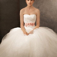 Ball Gown with Asymmetrically Draped Bodice