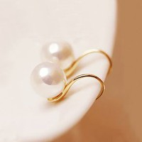 Curvy Pearl Beauty Earrings