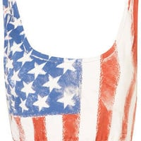 American Flag Bralet - Jersey Tops  - Clothing