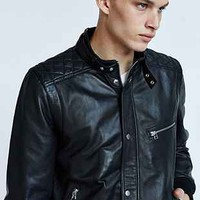 Your Neighbors Quilted Café Leather Jacket - Urban Outfitters
