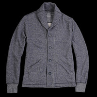 UNIONMADE - Save Khaki - French Terry Shawl Collar Cardigan in Navy Heather