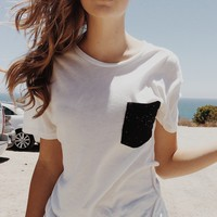 IEVA SPLATTER POCKET TEE