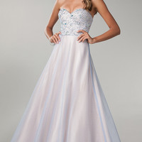 Bee Darlin Strapless Prom Gown